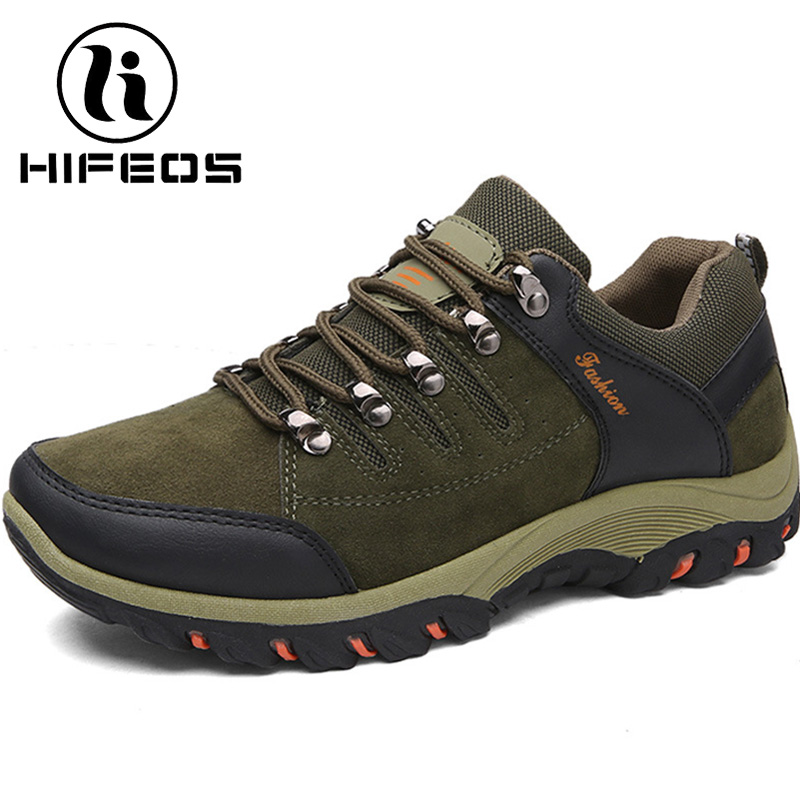 HIFEOS winter outdoor hiking shoes men comfortable boots non-slip wear-resistant sneakers breathable trekking waterproof M059 hifeos outdoor hiking shoes anti slip boots lace invisible increased men s shoes comfortable breathable sneakers climing m065