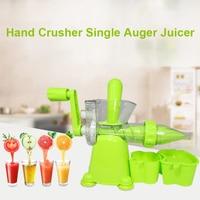 100% manual manivela saúde juicer maker lento moagem limão laranja espremedor para casa & escritório frutas legumes extrator de suco Espremedores     -
