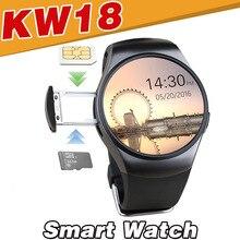 Kw18 Смарт часы Bluetooth Водонепроницаемый для Android IOS мобильный телефон Apple шагомер сердечного ритма Мониторы SmartWatch sim-tf Камера