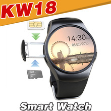 KW18 Smart Watch Bluetooth Waterproof For Android IOS Apple Mobile Phone Pedometer Heart Rate Monitor SmartWatch SIM TF Camera