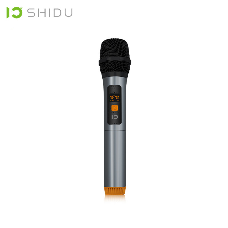 SHIDU Wireless Handheld MIC UHF Dynamic Vocal Microphone With 6 5mm Plug Receiver Portable Voice Changer Amplifier For Speech U6 in Microphones from Consumer Electronics