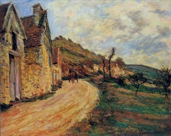 High quality Oil painting Canvas Reproductions Rocks at Falaise near Giverny (1885) By Claude Monet Painting hand painted фото