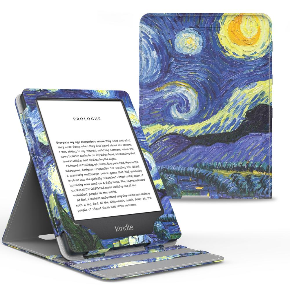 Case For All-New Kindle (10th Generation, 2019) /Kindle (8th Generation, 2016), Premium Vertical Flip Cover with Auto Wake/Sleep