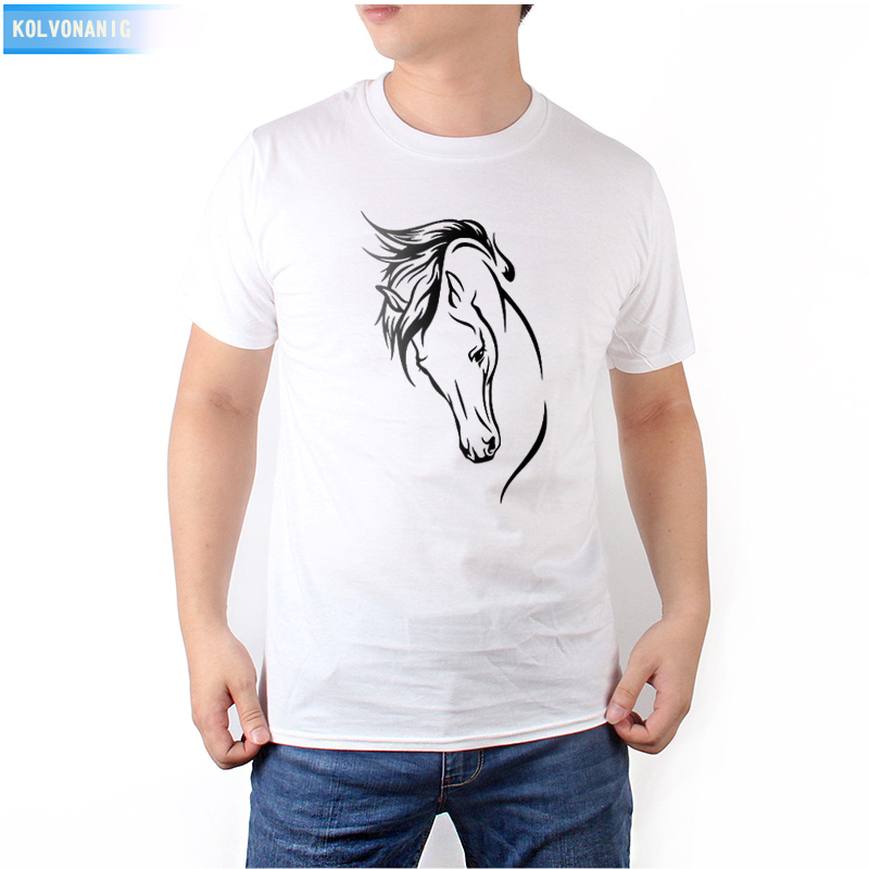 KOLVONANIG Brand 2018 Summer Dresses For Men Horse Funny Printed T-Shirt Short Sleeve Anime Tshirt Top Clothing Hip Hop Top Tees