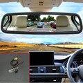 5 polegada Tela Digital a Cores TFT LCD Retrovisor Do Carro Monitor Espelho Monitor do carro + Câmera de Visão Traseira Do Carro Para Renault Clio 4 2014 ~ 2015