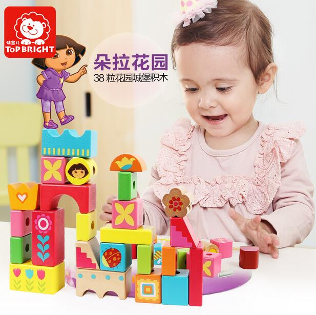 Candice guo wooden toy wood block colorful shape Dora stringing beads castle garden scene beads birthday present gift 38pcs/set candice guo wooden toy wood block duck pull cart board cannula pillar vehicle shape macth game birthday gift christmas present