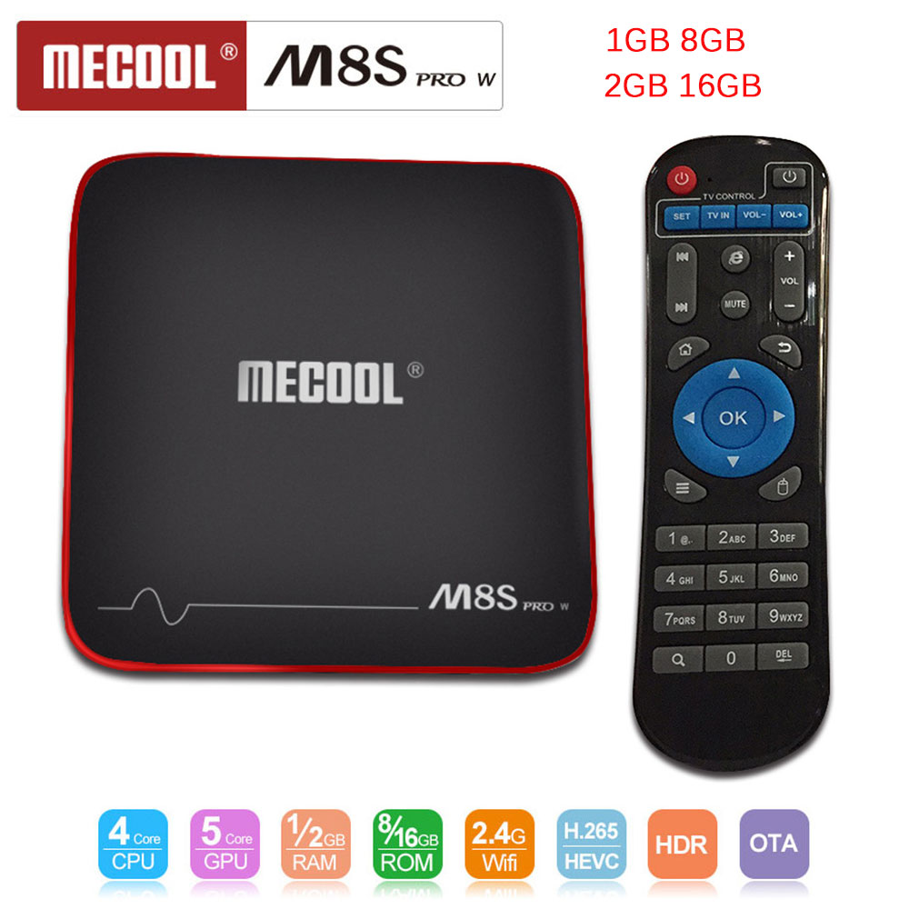 MECOOL M8S PRO W Android 7.1 TV Box Amlogic S905W Quad Core 1/2GB 8/16GB OTA update Smart TV Box WiFi 4K H.265 Set Top Box