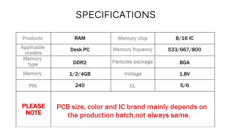 DDR2 533 667 800 1 2 4