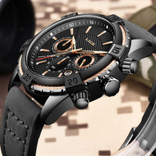 2019 Watch LIGE Mens Watches Top Brand Luxury Men Casual Leather Waterproof Chronograph Men Sport Quartz Clock Relogio Masculino(China)