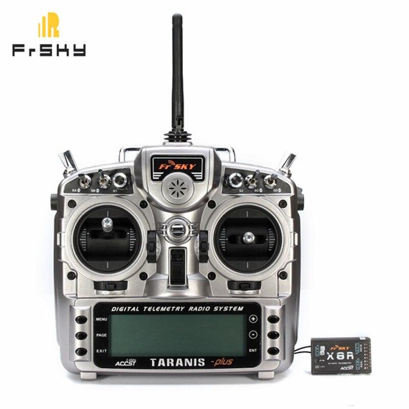 Nouveau FrSky Taranis X9D Plus 2.4g ACCST Émetteur Avec X8R Récepteur sélection Pour RC Multicopter Partie Racing drone