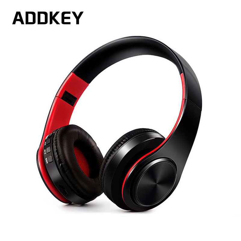 ADDKEY NEW colorful stereo Audio Mp3 Bluetooth Headset Wireless Headphones Earphone support SD card with mic play 10 hours 2017 scomas i7 mini bluetooth earbud wireless invisible headphones headset with mic stereo bluetooth earphone for iphone android