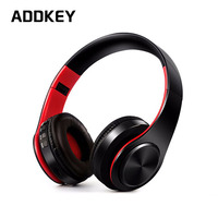 Free Shipping Colorful Stereo Audio Mp3 Bluetooth Headset Wireless Headphones Earphone Support SD Card With Mic