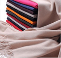 Hot  Pure Color Women Scarf Luxury Brand High Qulity Solid Tassel Long Cashmere Female Scarves Winter Big Shawl Pashmina