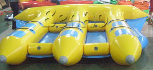 B014 Envío Libre 6 persona banana boat flyfish Inflable/PVC Remolcable Pez Volador Inflable para juegos de agua