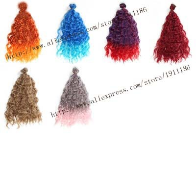 1pcs 25cm*100cm hair for dolls fits 1/3 1/4 1/6  BJD dolls Accessories wool curls uncle 1 3 1 4 1 6 doll accessories for bjd sd bjd eyelashes for doll 1 pair tx 03