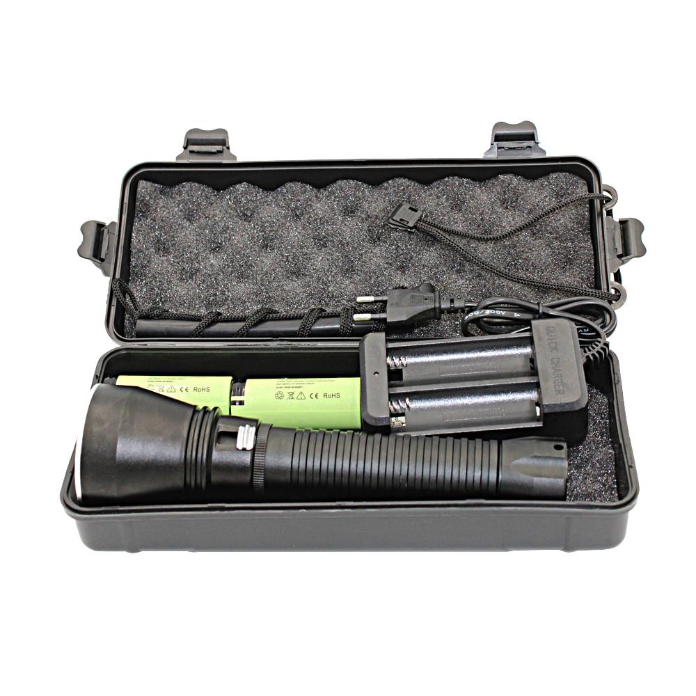 Uranusfire XHP70 Diving Flashlight Underwater 100M Waterproof Diving Flashlight + 265650 Battery + Charger