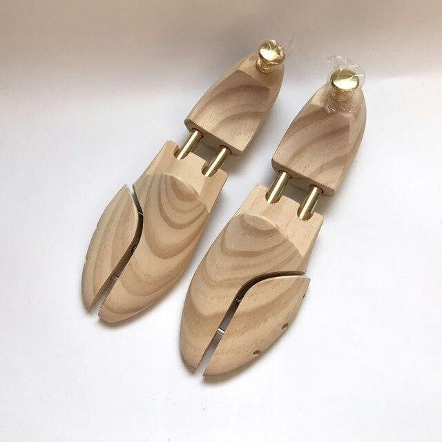 Chaussure Tube double en bois massif de haute qualité, nouvelle zélande en bois de pin ajustable façonnant les chaussures pour hommes, arbre à chaussures, printemps