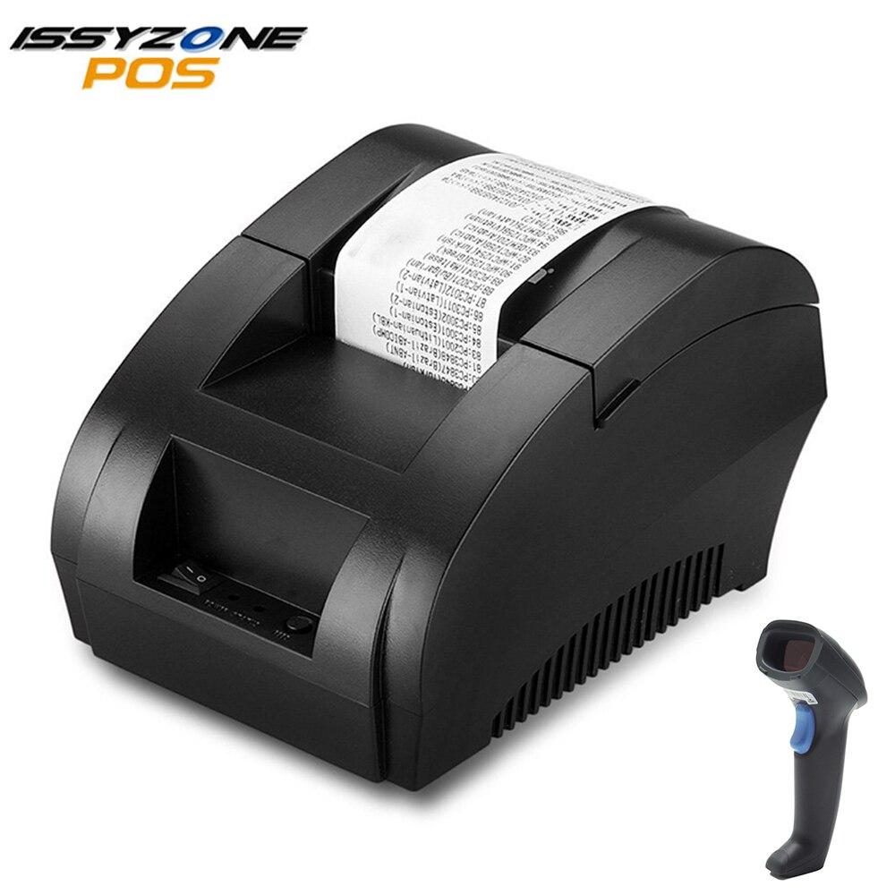 ISSYZONEPOS Thermal Printers 58mm Receipt Printer Cheap POS Printer USB Printing For Supermarket Restaurant Command ESC/POS