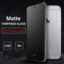 9H No Fingerprint Matte Tempered Glass For iPhone 6 6S Plus 6Plus Screen Protector Frosted Premium Protective Anti-Glare Film