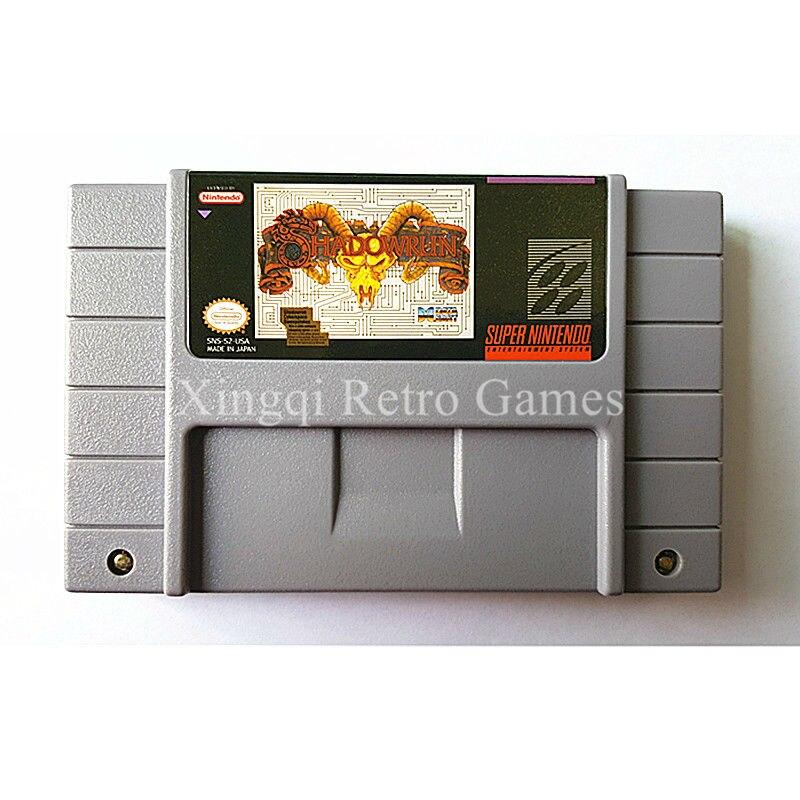 Super Nintendo SFC SNES Game Shadowrun Video Game Cartridge Console Card NTSC US English Version