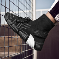 Air mesh Men Running Shoes Men Socks Sneakers Sport Shoes high top Male Athletic Shoes Outdoor Jogging Shoes Plus Size 39 46 k5