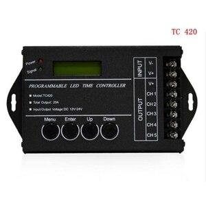 Image 2 - DC12 DC24V TC420/TC421 WiFi tiempo programable controlador regulador led RGB acuario iluminación temporizador Entrada 5 canales para tira de led