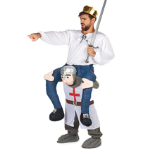 Medieval warrio Ride on Cosplay Costumes Carry Back Fancy Pants Oktoberfest Halloween Party Christmas Novelty Houres Riding Toys