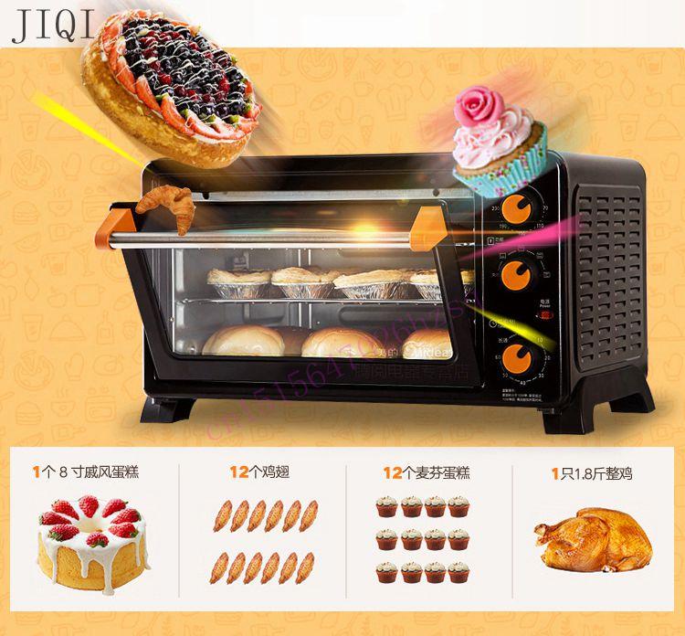 25l forno elettrico domestico freestanding pizza torta tostapane forno timer del forno elettrodomestici da cucina
