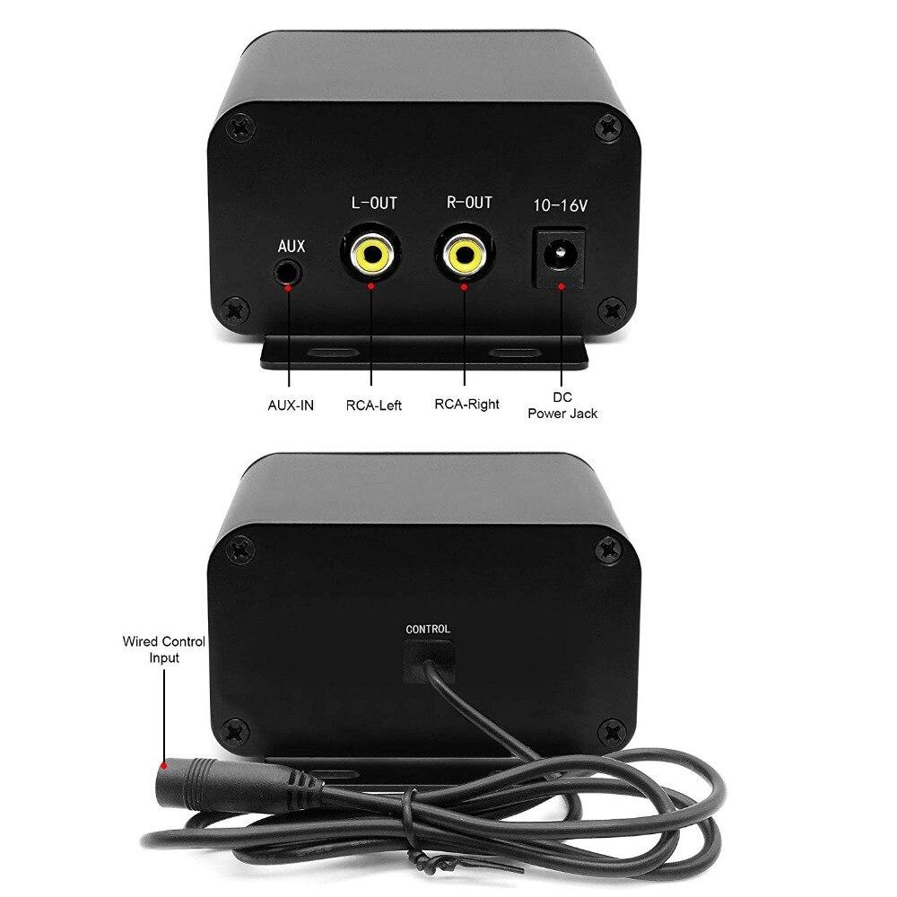 Ensemble Audio moto aijump M150 avec amplificateur stéréo 2ch, haut-parleurs étanches 4 pouces, Bluetooth, Radio FM, AUX MP3 (Chrome) - 5