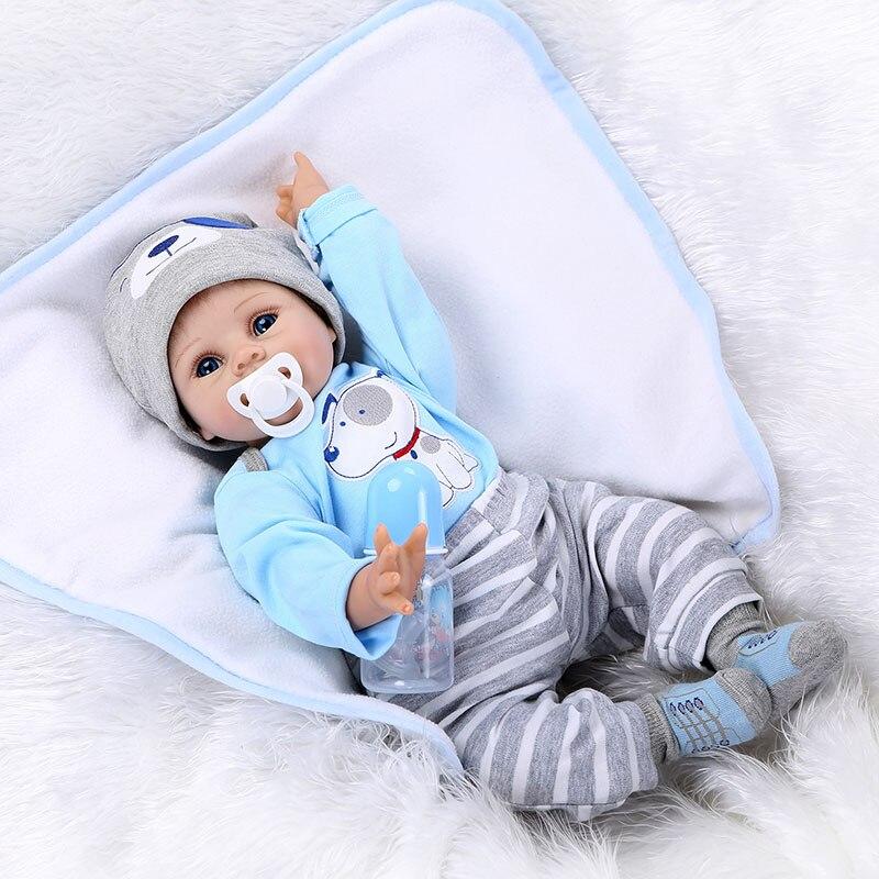 Npk 55cm 아기 실리콘 인형 실리콘 reborn 아기 인형 시뮬레이션 아기 부드러운 인형 장난감 고무 reborn 유아 장난감 어린이위한-에서인형부터 완구 & 취미 의  그룹 3