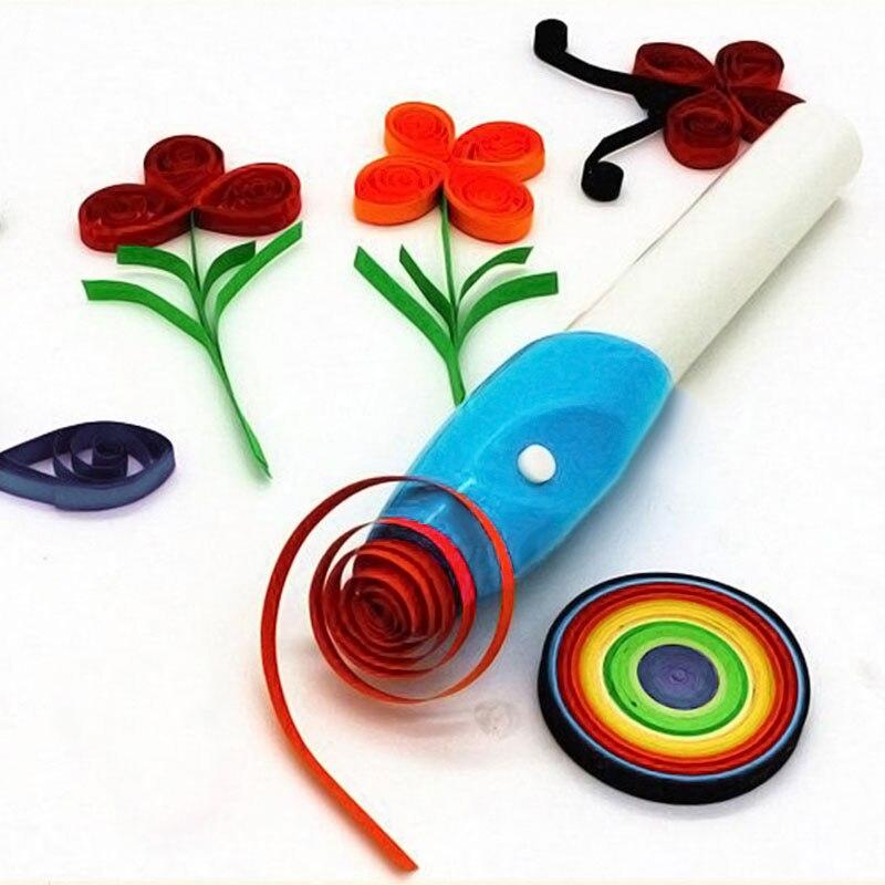 GLOGLOW 10Pcs Paper Craft Plastic 5 in 1 Quilling Tools, Slotted Paper Quilling Tools Economic Handicraft DIY Curling Pen New