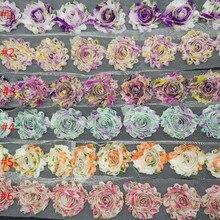 15 ярдов/партия, 2,5 ''потрепанная шифоновая нить, Цветочный Шифоновый Цветок для повязки на голову волосы модные аксессуары Головные уборы