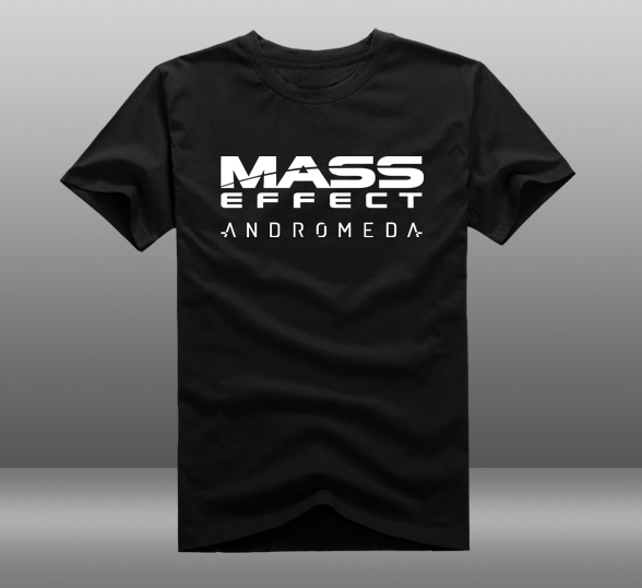 font b Mens b font Casual 2017 Game Mass Effect Andromeda Printing Cotton O Neck