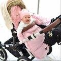INVERNO 100% Da Marca Carrinho de Bebê Saco de Dormir/saco térmico carrinho de rosa com pele por muito tempo frio usar frete grátis