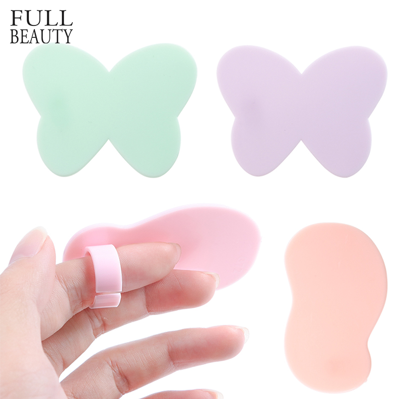 1pcs Mini Color Nail Art Palette Dish Finger Ring Plate Acrylic UV Gel Paint Drawing Pigment Manicure Display Board Tool CH1002