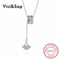 Visisap Anchor Necklace 925 Sterling Silver Jewelry Necklaces For Woman Fascinating Temperament Wedding Gift VSVN080