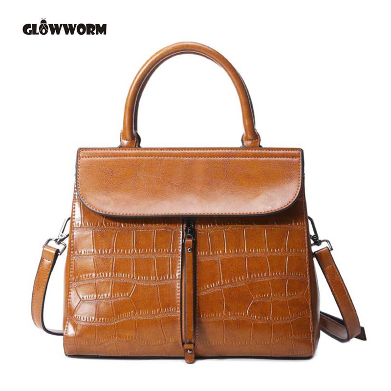 GLOWWORM Brand Women Messenger Bags High Quality Genuine Leather Shoulder Crossbody Bag New Fashion Carteras Mujer De Hombro designer bags famous brand high quality women bags 2016 new women leather envelope shoulder crossbody messenger bag clutch bags