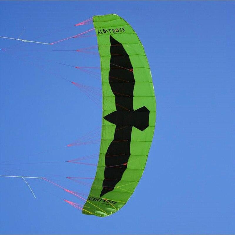 Livraison gratuite grand 5 7 mètres carrés de puissance cerf-volant embarquement quad ligne cascadeur cerf-volant avec barre de contrôle traction cerf-volant kitesurf volant