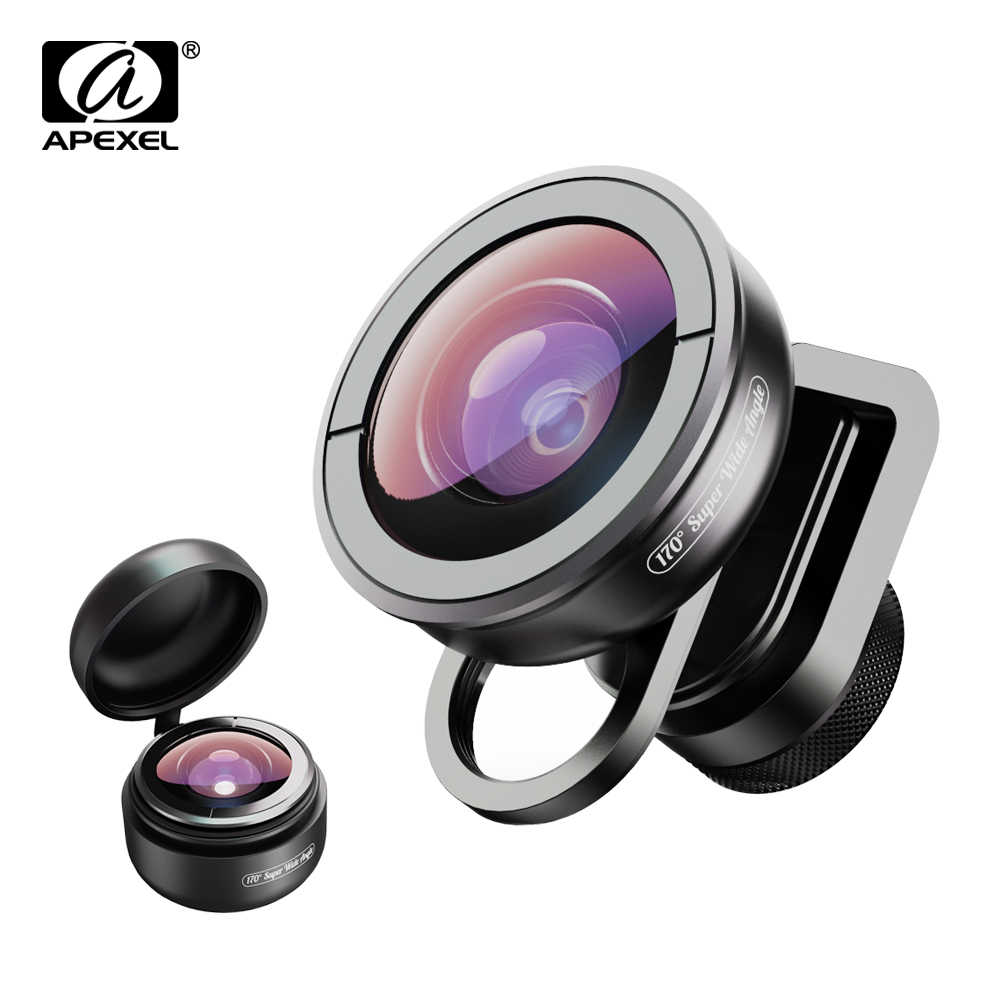 APEXEL HD optic phone lens 170 degree super wide angle lens Camera optical Lenses for iPhonex xs max xiaomi all smartphone