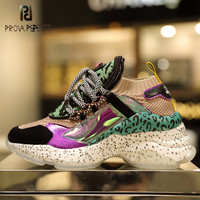 Prova Perfetto Web Celebrity Sneakers Leopard Rubber Sole Platform Increased Sneakers Casual Shoes Celebrity Street Shoes Women