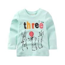 Jumpingbaby 2019 Girls T shirt T-shirt Kids Clothes Tshirt Camiseta Camisetas Todder Tshirts Baby Roupas Menina Autumn Fall Tops недорго, оригинальная цена