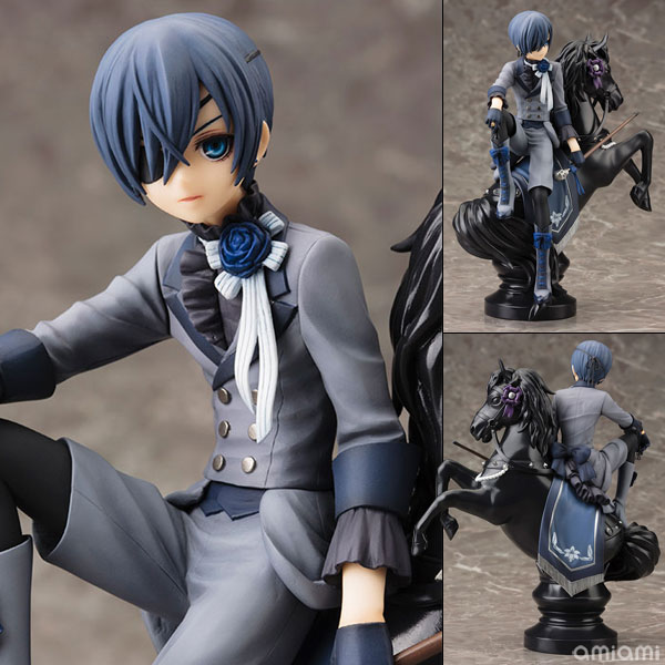 Black Butler Book of Circus Kuroshitsuji Ciel PVC Action Figure Collectible Model Toy 18cm KT052 free shipping the new popular wedding special heart shaped acrylic podium organic glass church pulpit