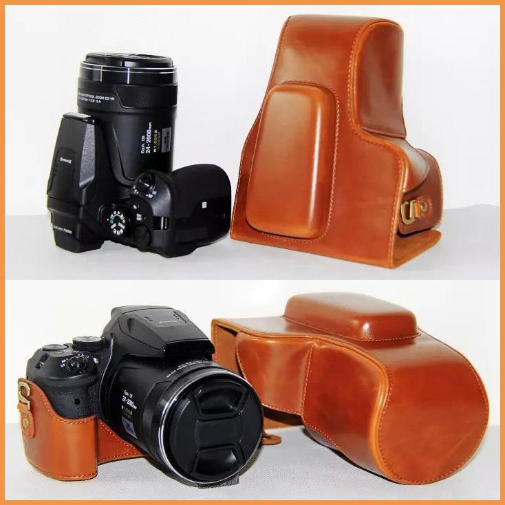 Prix pour PU Cuir Camera Case Sac De Couverture pour Nikon Coolpix P900s P900 appareil photo numérique