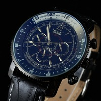 Top luxury brand jaragar orologio uomo data calendario automatico orologio meccanico automatico orologio da polso uomo sport watch regalo 2017 nuovo