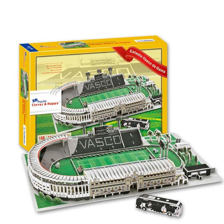 купить Candice guo 3D puzzle DIY toy paper building model Sport estadio vasco da gama Stadium football soccer assemble game gift 1set по цене 2174.56 рублей