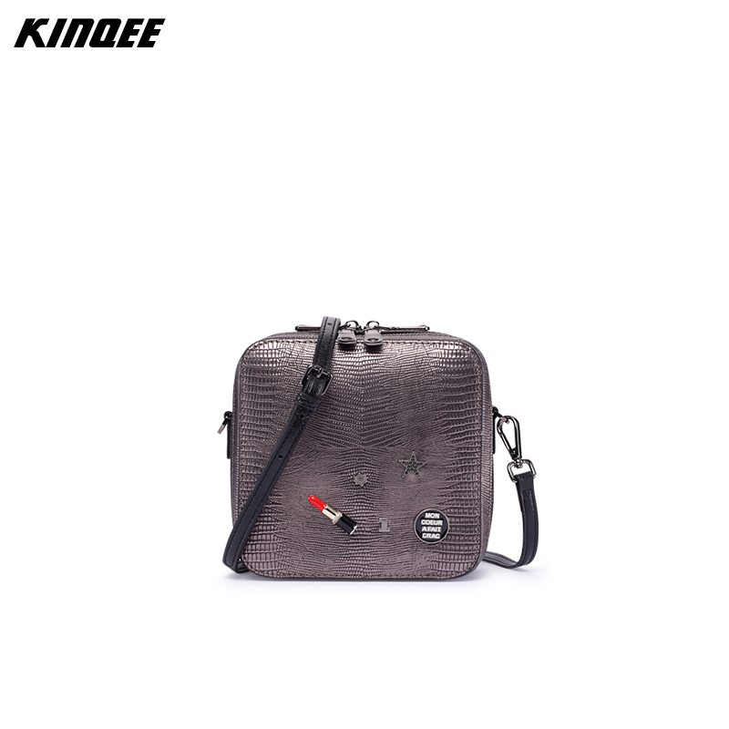 Lizard Prints Genuine Leather Women Flap Lady Messenger Bags Shoulder Bag Cow Leather MINI High Quality 18CM Small Bags vm fashion kiss genuine leather serpentine chain small messenger bags for women high quality mini shoulder bags falp bag lady