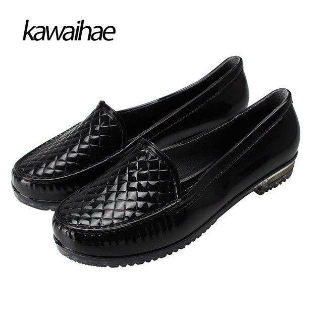 f114810f47 Mulheres Botas de Chuva Sapatos de borracha À Prova D' Água Confortável Dedo  Do Pé