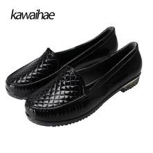 Rubber Shoes Waterproof Women Rain Boots Round Toe Comfortable Black Women Boots Brand 2017 Kawaihae 532