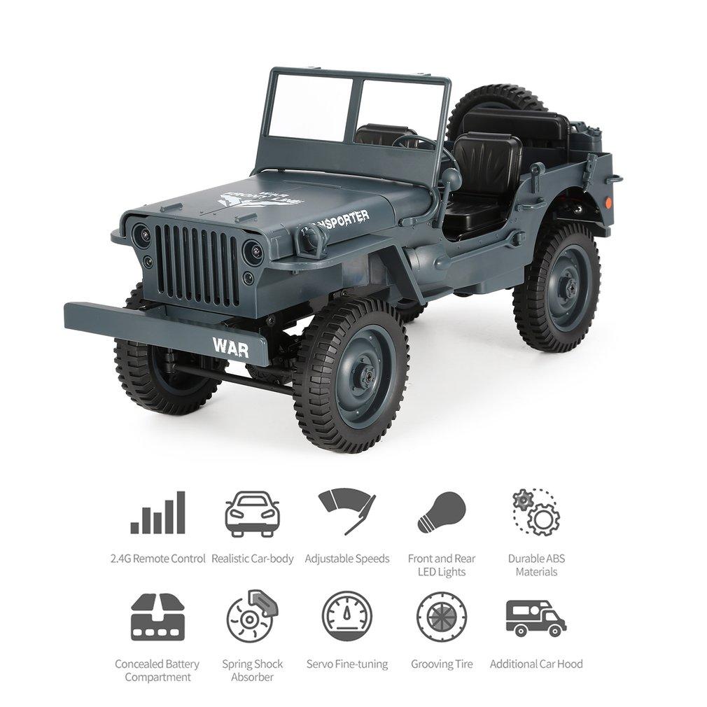 JJR/C Q65 1:10 RC camion jouets 2.4G Convertible télécommande lumière Jeep quatre roues motrices hors route militaire escalade voiture jouet cadeau