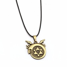 цена на FullMetal Alchemist Necklace Men Rope Chain Edward Homunculus Pendant Necklace Women Anime Jewelry erkek kolye collier
